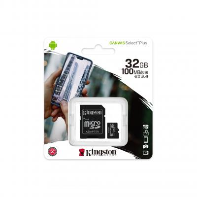 Карта памяти MicroSDHC KINGSTON Canvas Select Plus 32GB UHS-I