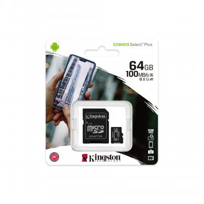 Карта памяти MicroSDHC KINGSTON Canvas Select Plus 64GB UHS-I